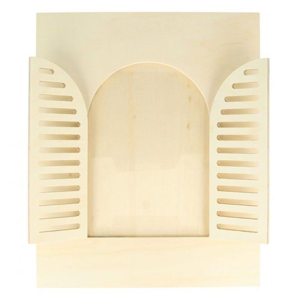 Cadre à photo bois fenêtre arrondie 22x27cm