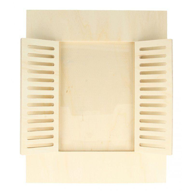 Cadre à photo bois fenêtre 22x27cm