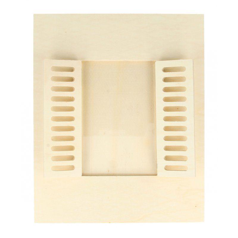 Cadre à photo bois fenêtre 18x22cm