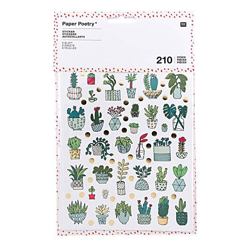210 autocollants plantes d'intérieur