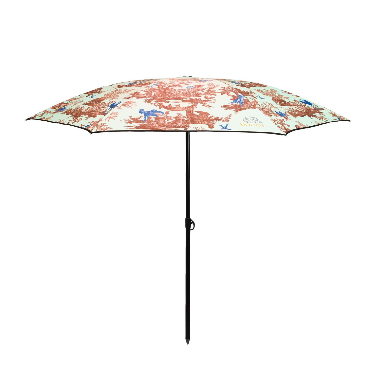 Parasol écoresponsable en toile imperméable vert d'eau