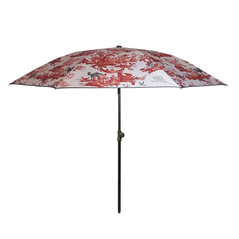 Parasol écoresponsable en toile imperméable ocre