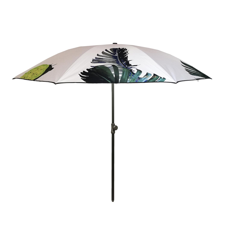 Parasol écoresponsable en toile imperméable végétal