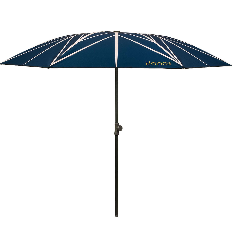 Parasol écoresponsable en toile imperméable bleu nuit