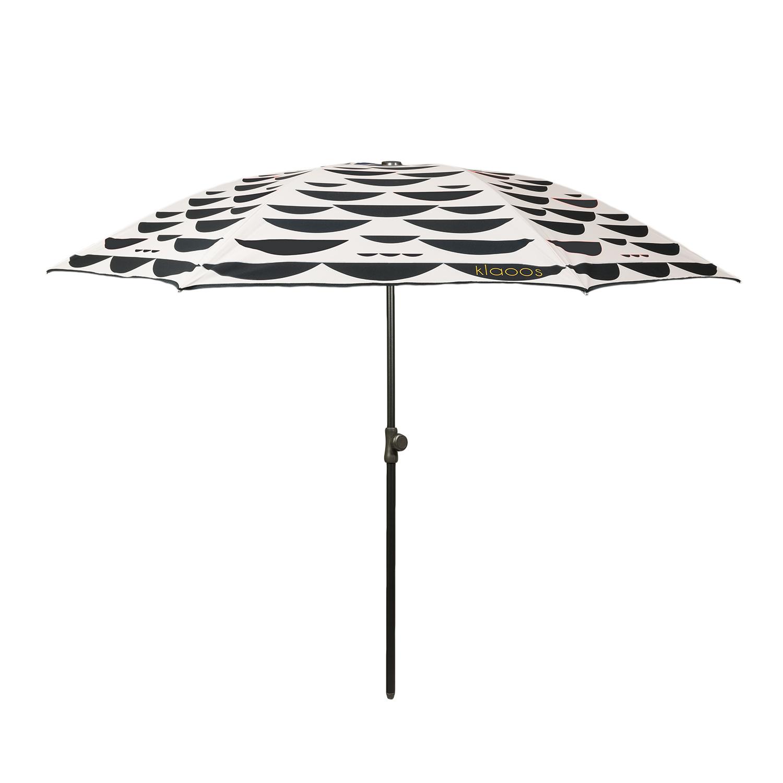 Parasol écoresponsable en toile imperméable noir crème