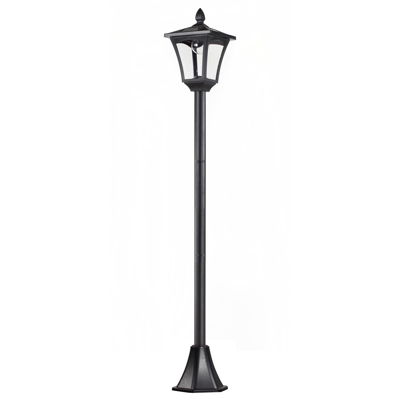 Lampadaire extérieur solaire luminaire lanterne LED noir