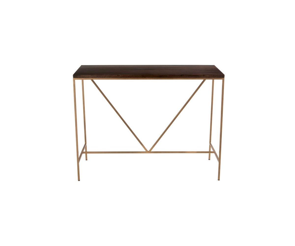 Console d'entrée minimaliste en bois et métal