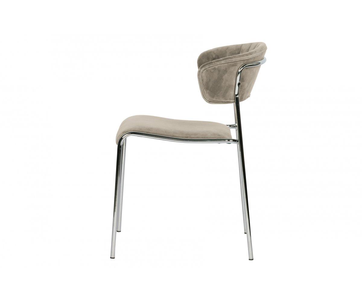 Chaise contemporaine en velours