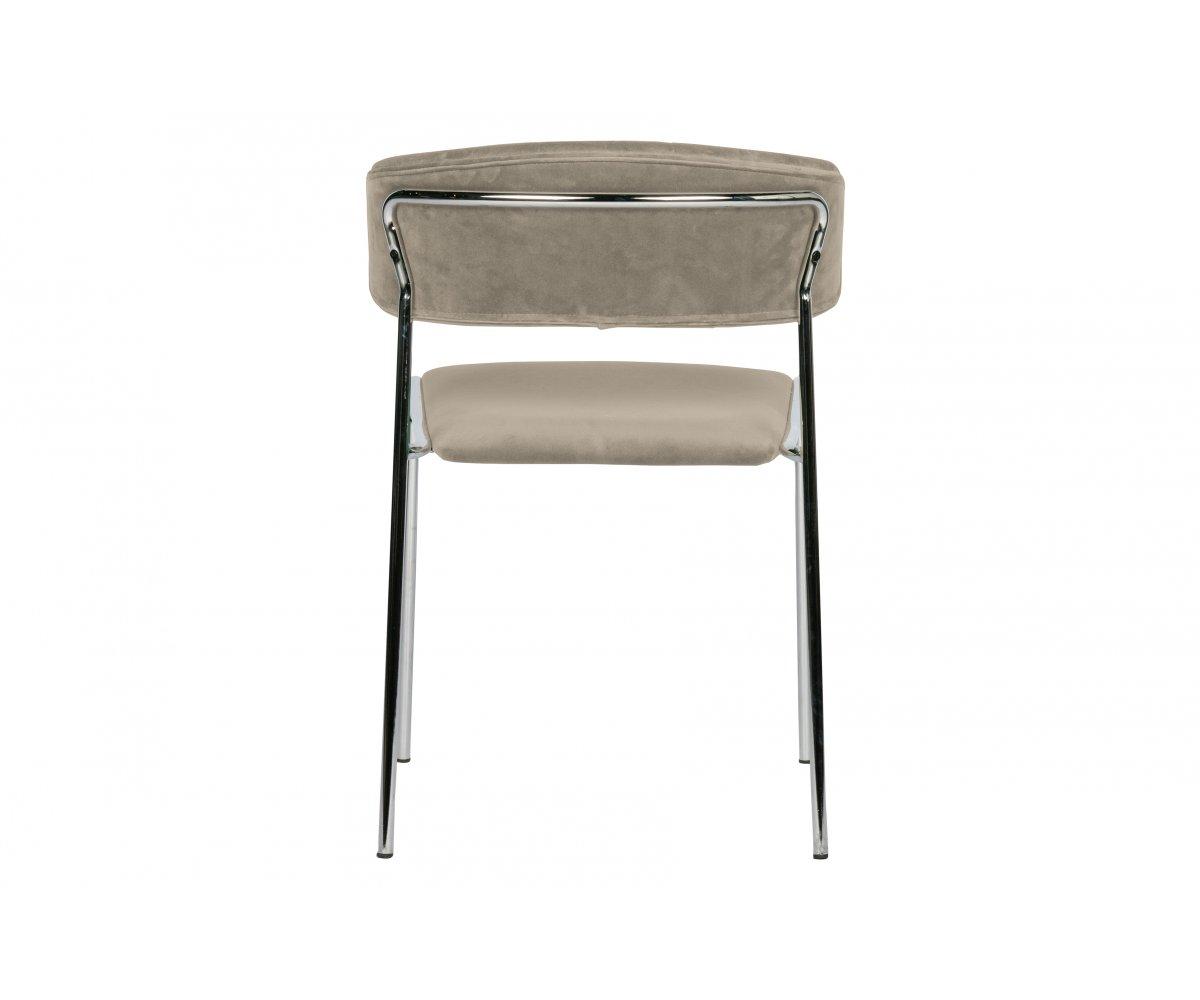 Chaise contemporaine en velours Taupe