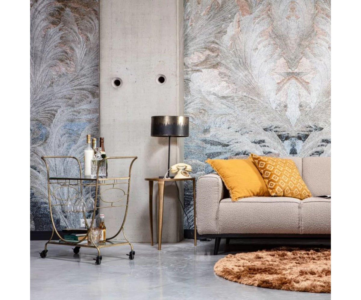 Set de 2 tables d'appoint en métal doré