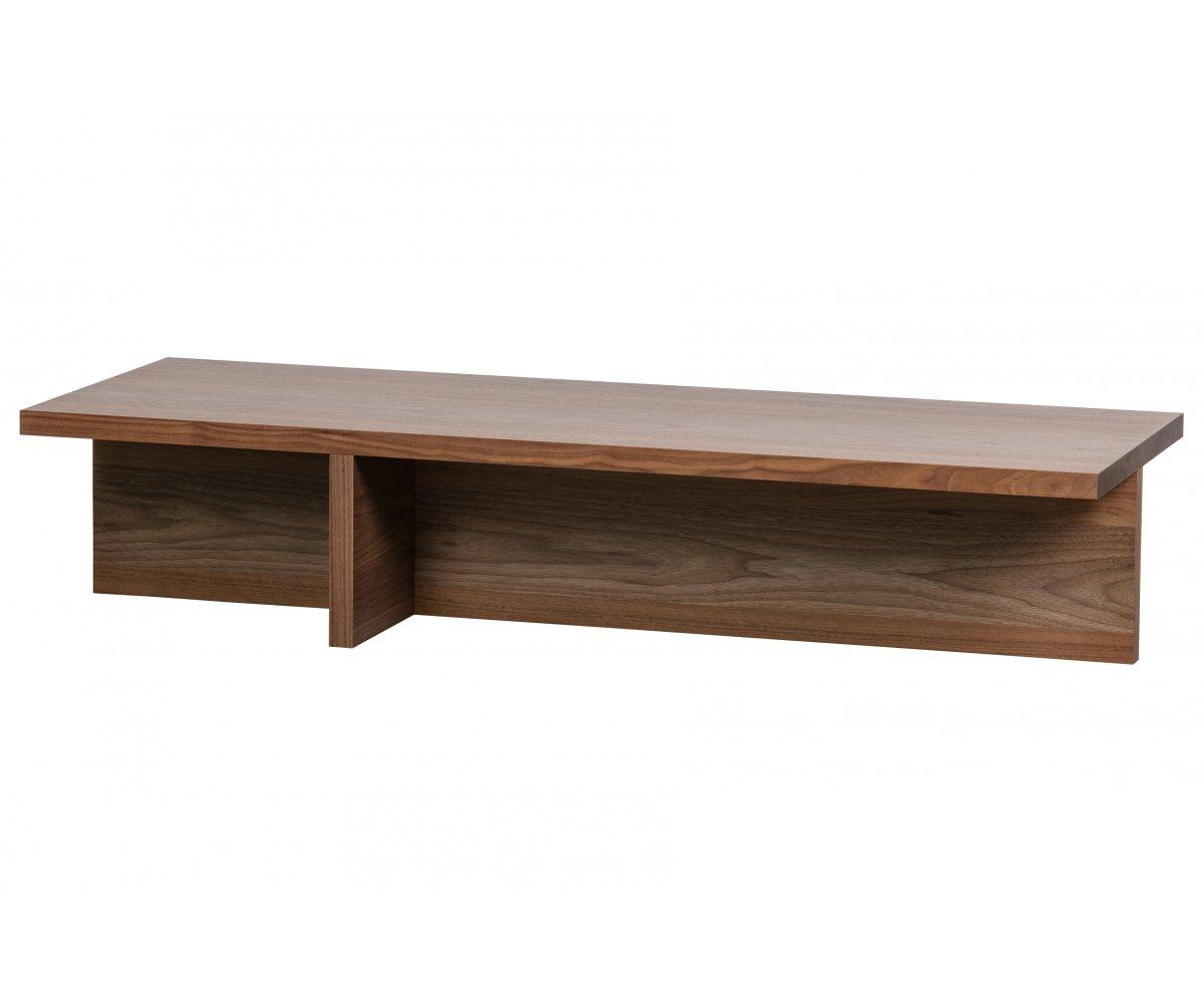 maison du monde Table basse contemporaine en bois Marron