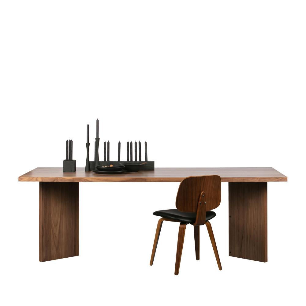 Table à manger en bois 90x220cm bois foncé