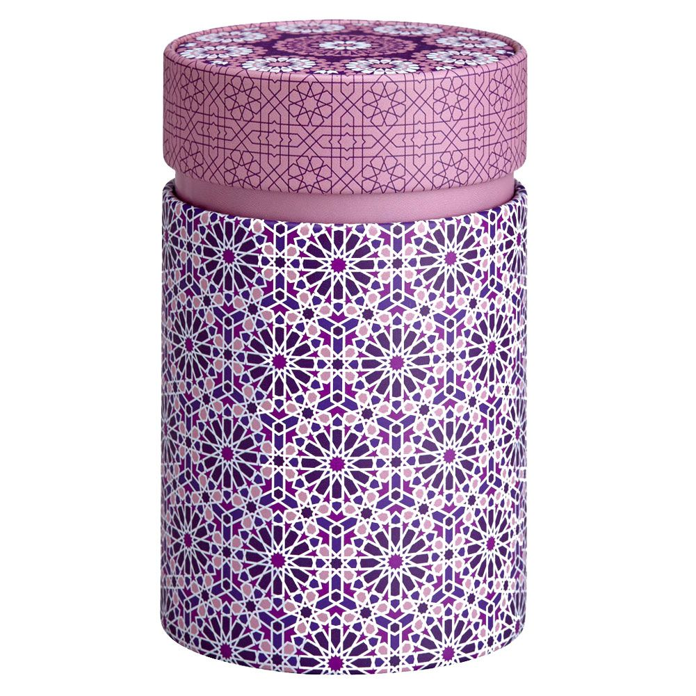 Petite boite rose pour le thé contenance 150g