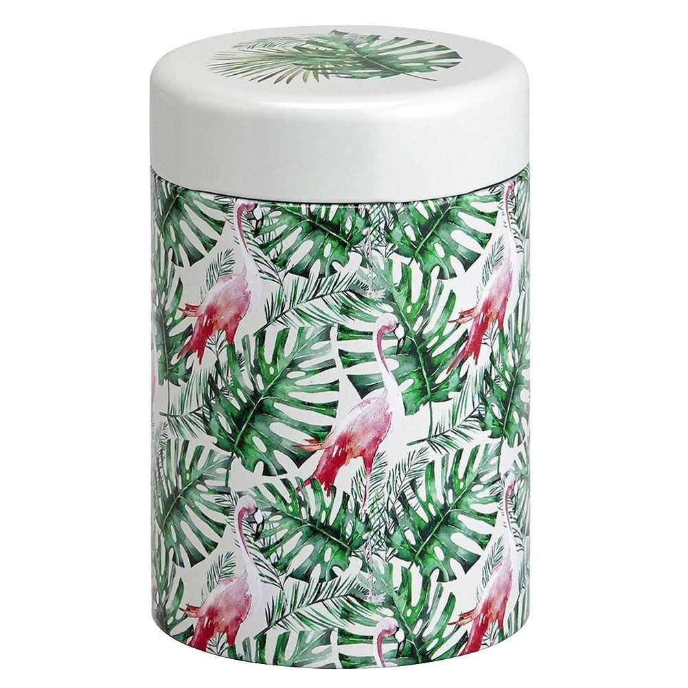 Petite boite à thé flamingo contenance 125g
