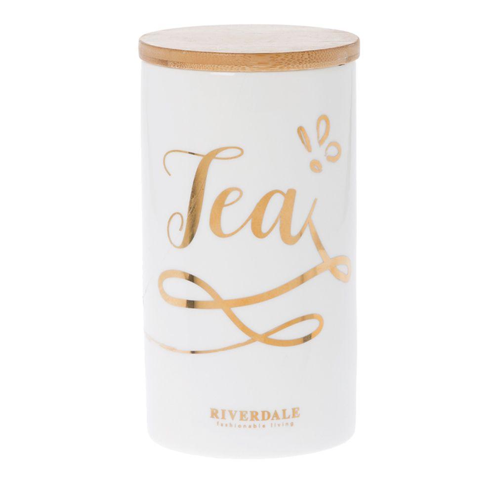 Pot pour le thé en céramique et bois H18cm