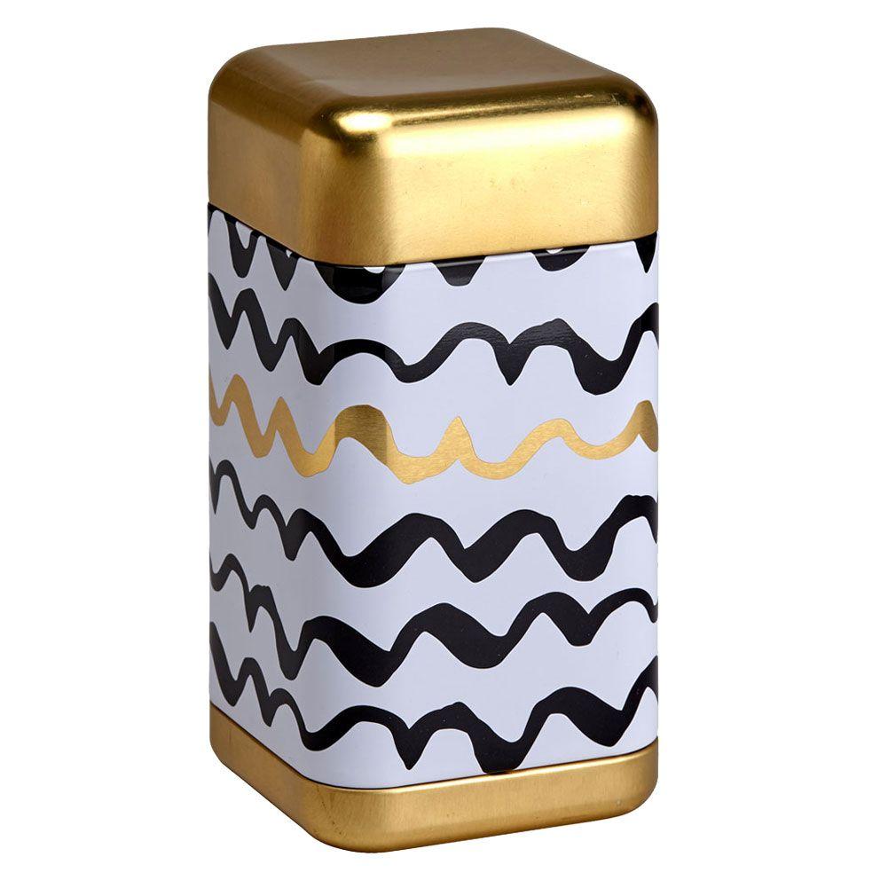 Petite boite vagues pour le thé contenance 200g