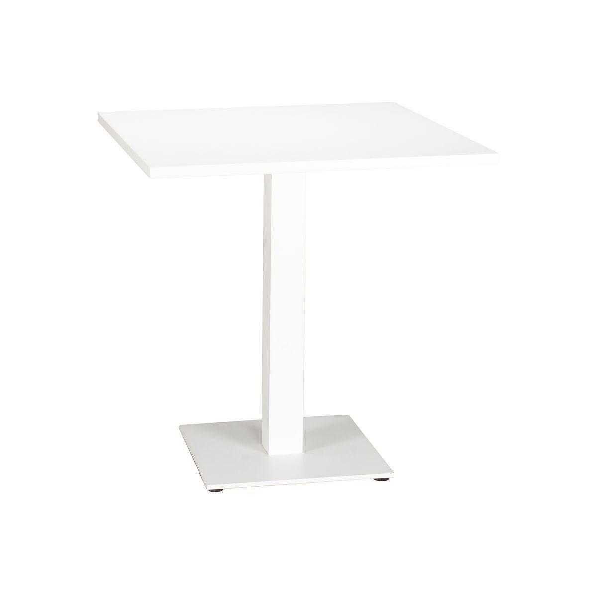 Table extérieure en aluminium blanc