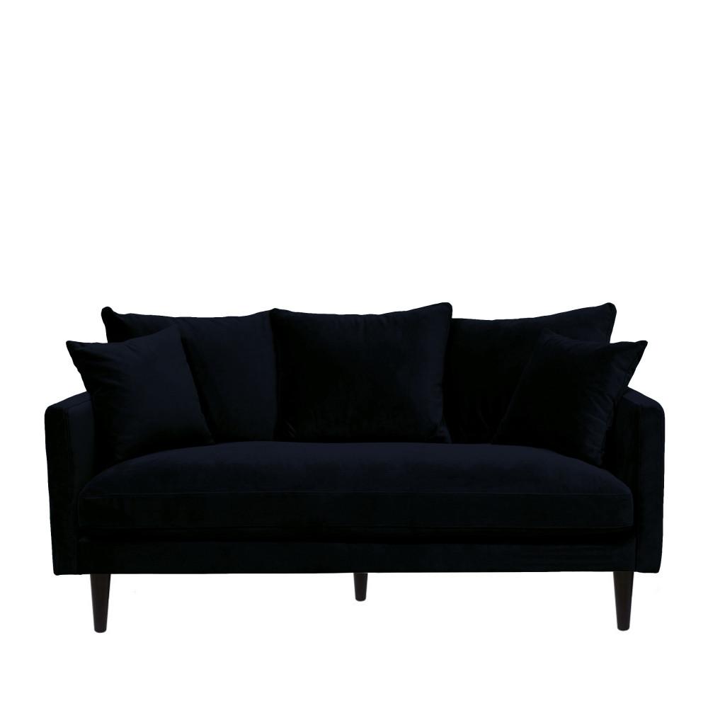 Canapé fixe 4 places Bleu Velours Grand