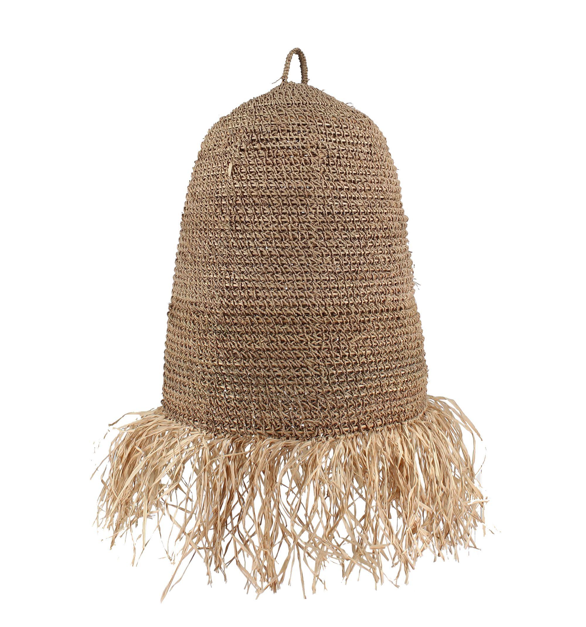 Cache-ampoule en fibres végétales avec franges