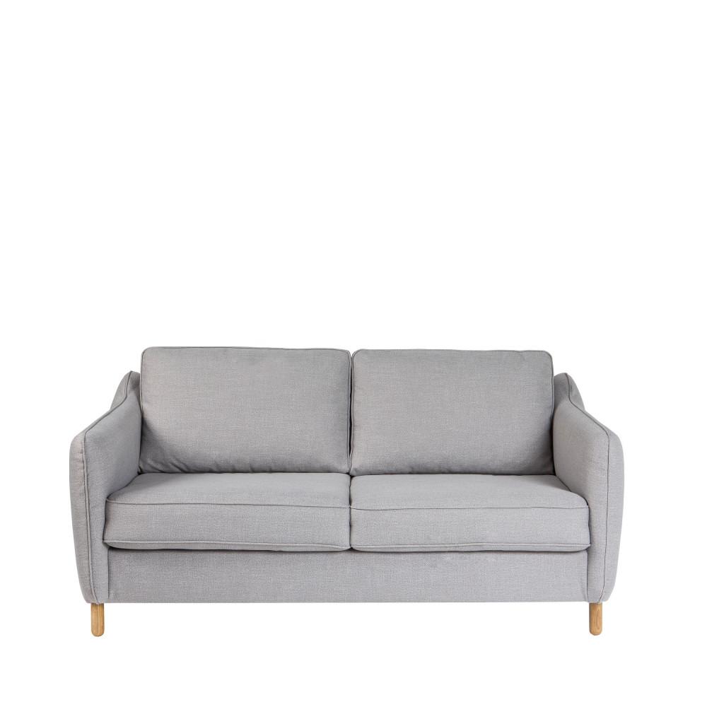 Canapé convertible ouverture express 2 places en tissu gris clair