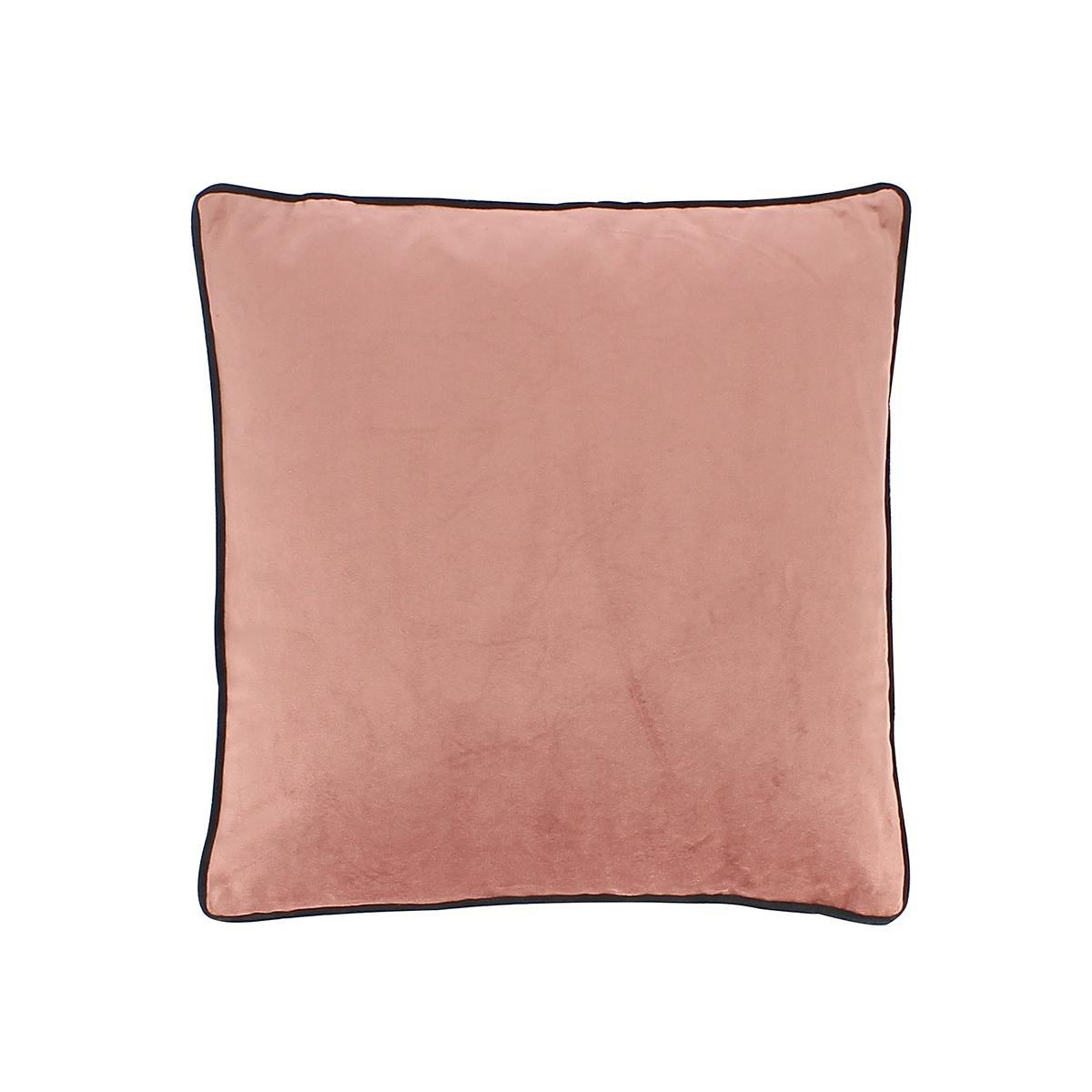 Coussin en velours rose et noir 40x40