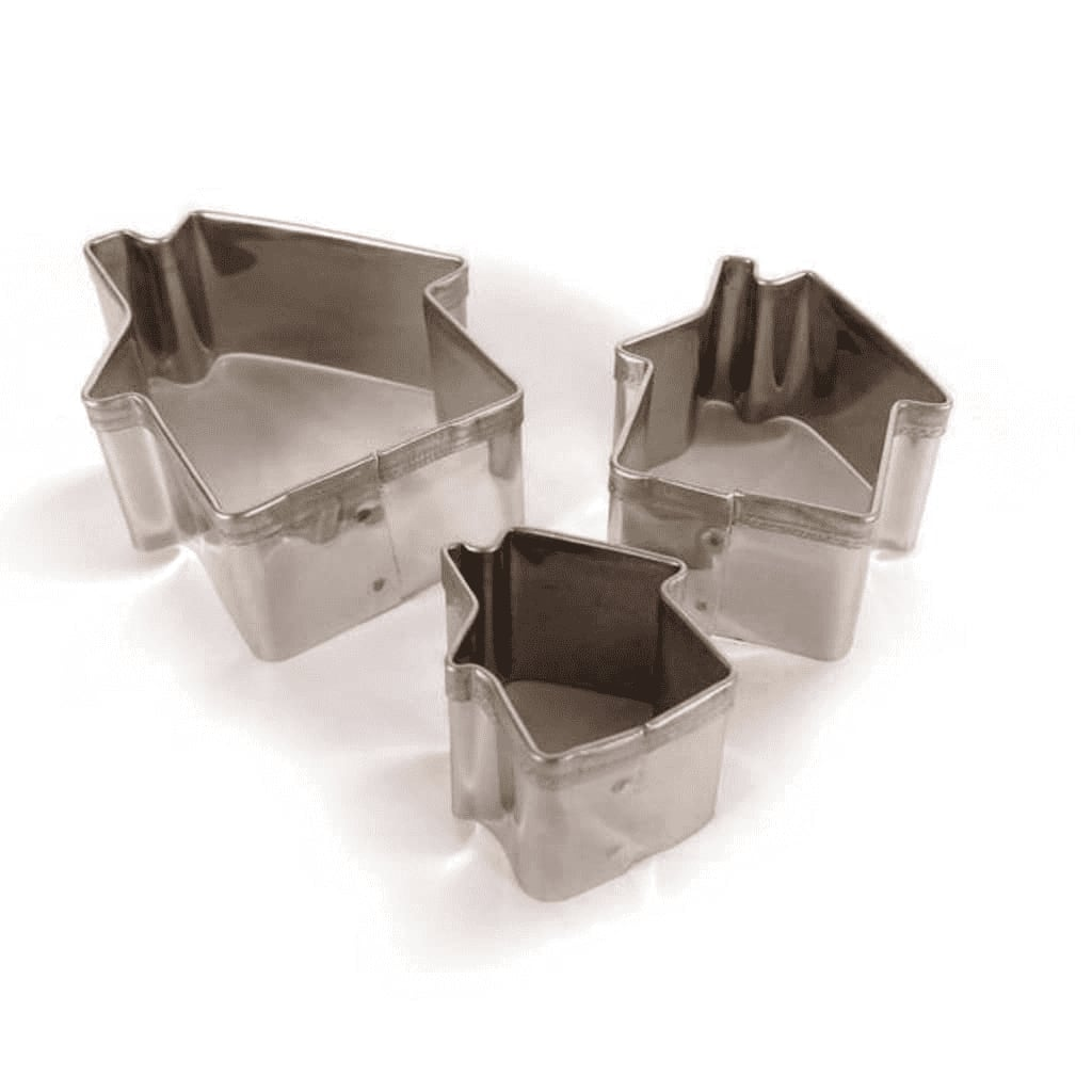 3 mini emporte-pièces inox maisons