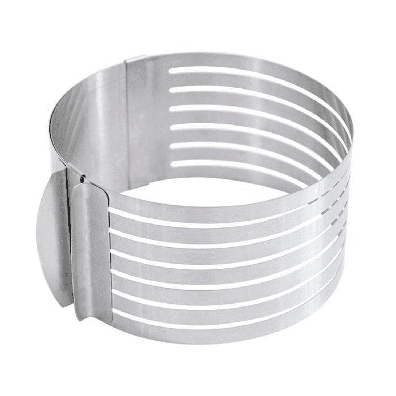 Cercle extensible en inox pour génoise 16 à 20cm