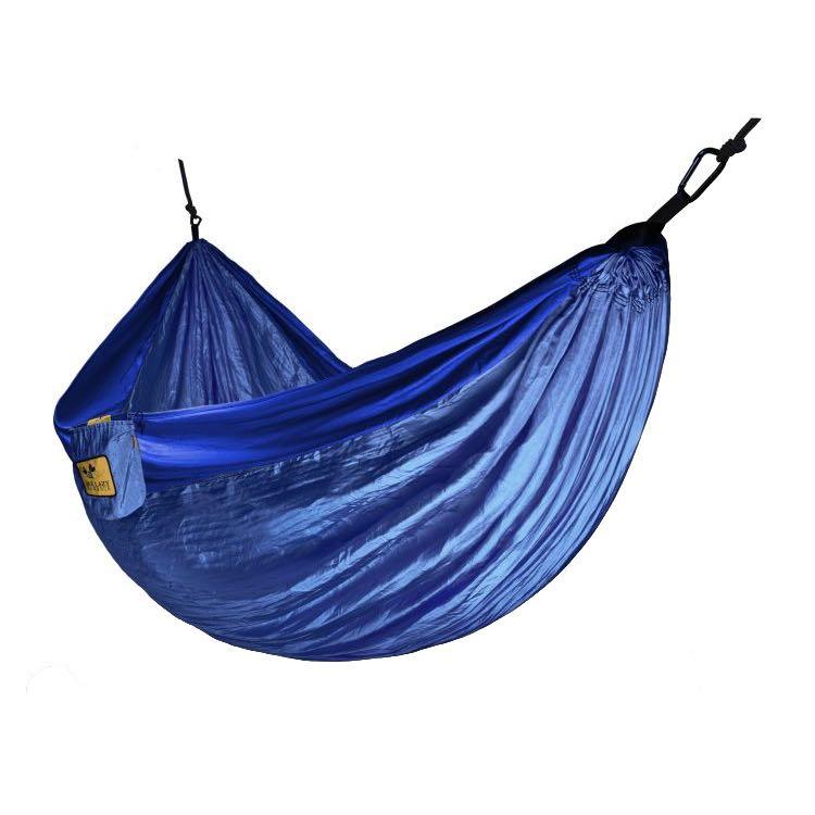 Hamac en parachute deux personnes bleu