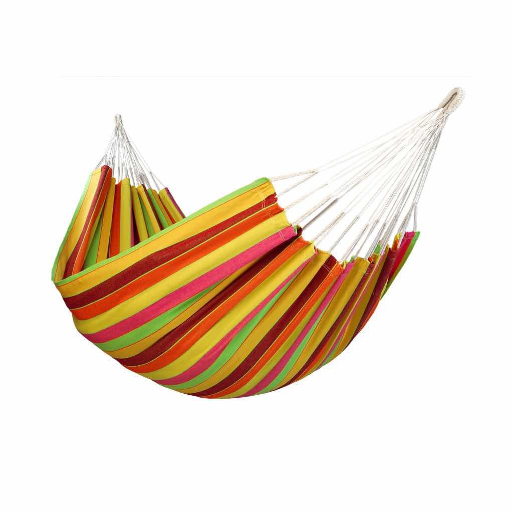 Hamac simple en coton multicolore