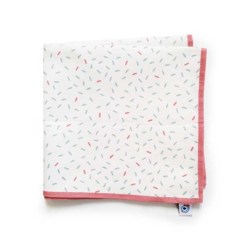 Serviette de table coton déco pastel confettis 40x40