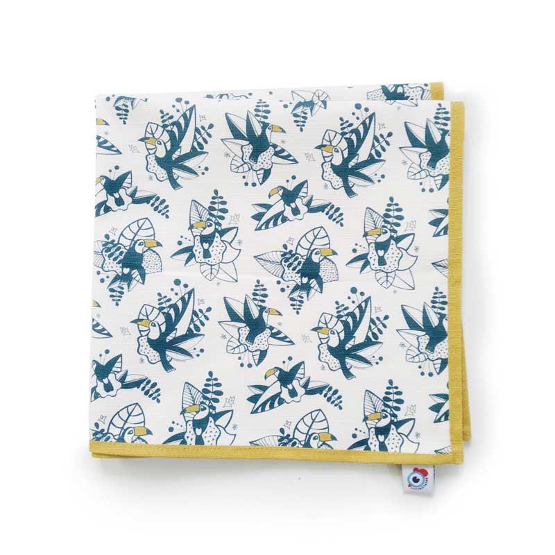Serviette de table coton toucan tropical 40x40