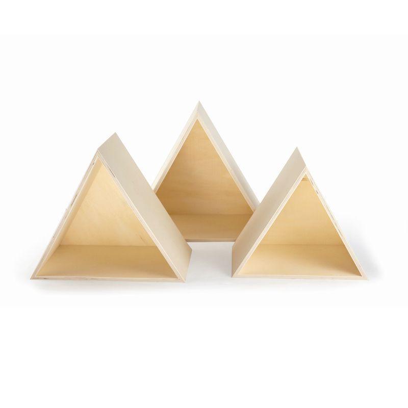 3 étagères triangles en bois (photo)