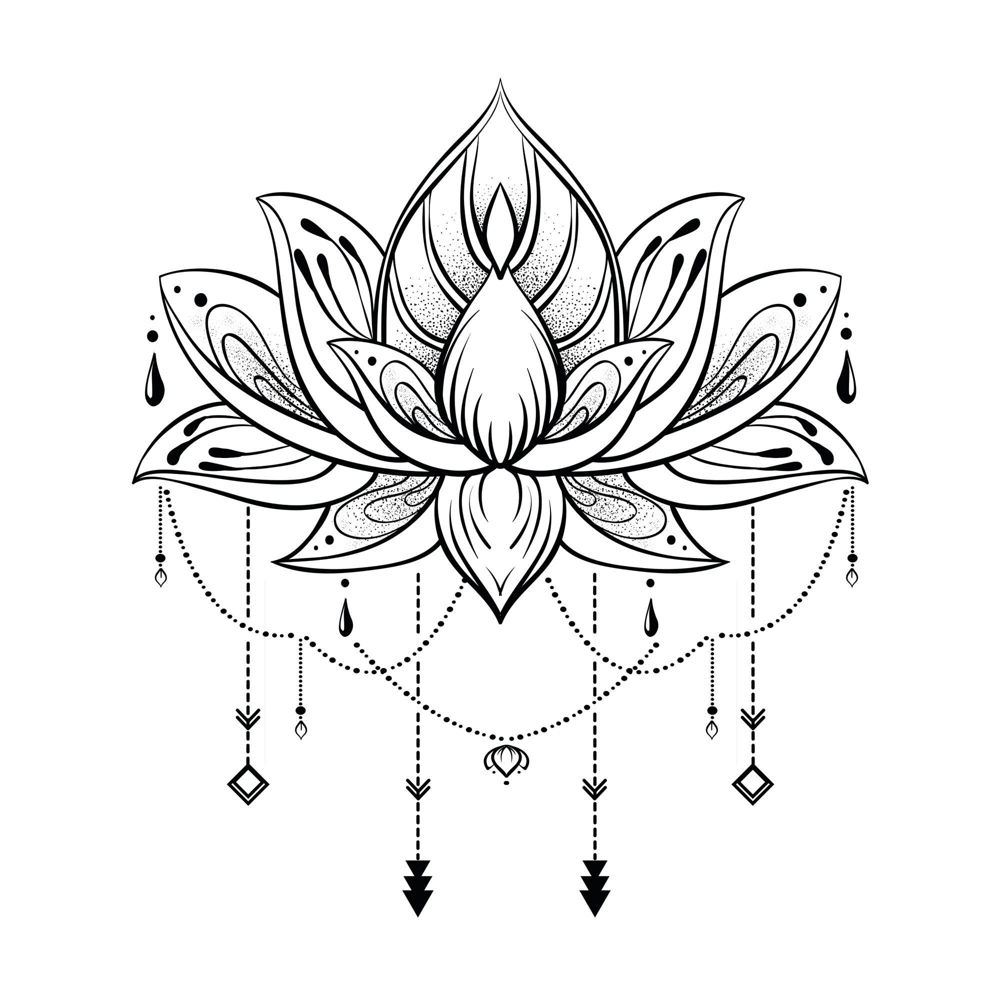 Autocollant mural lotus 20x70