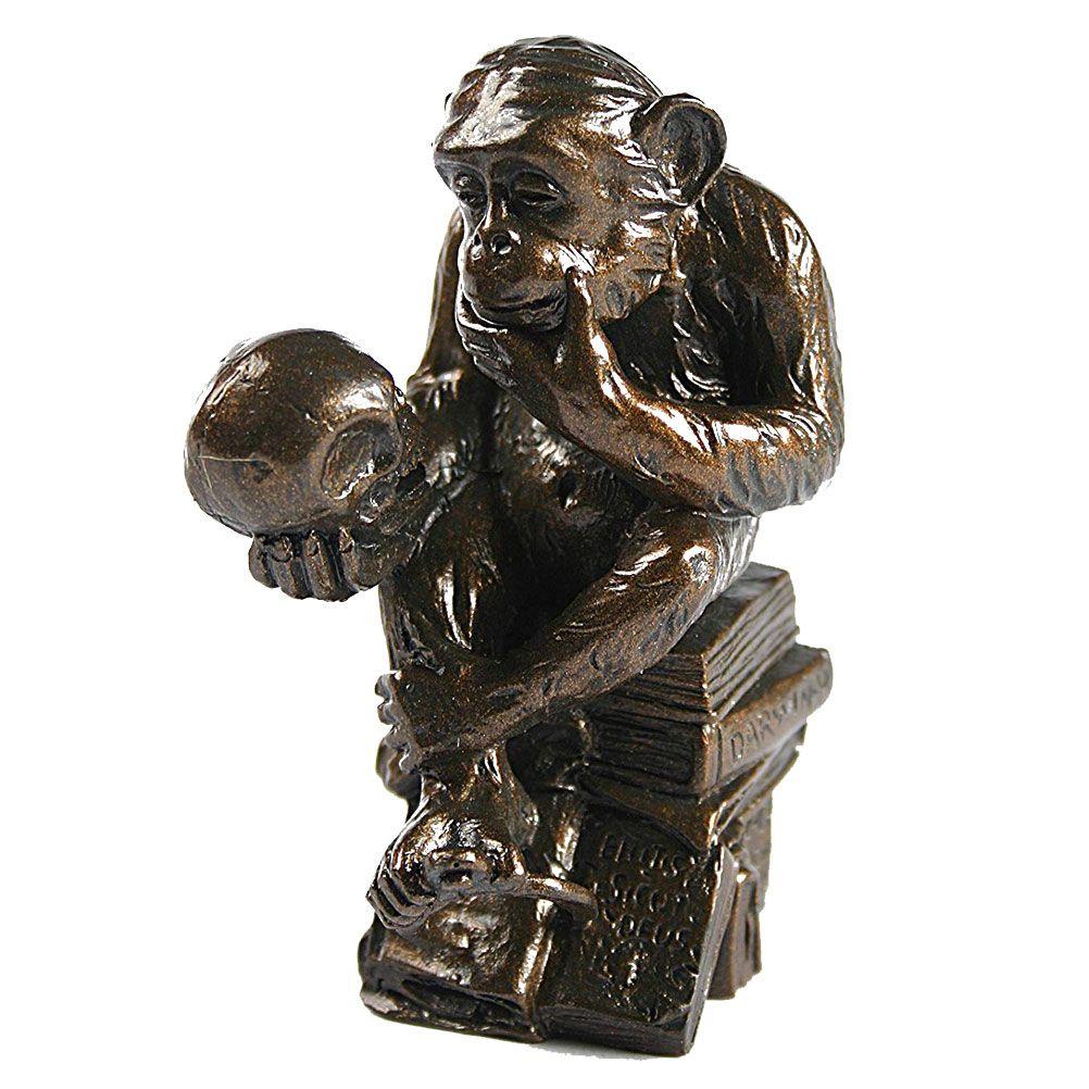 Figurine miniature reproduction le singe savant H9cm