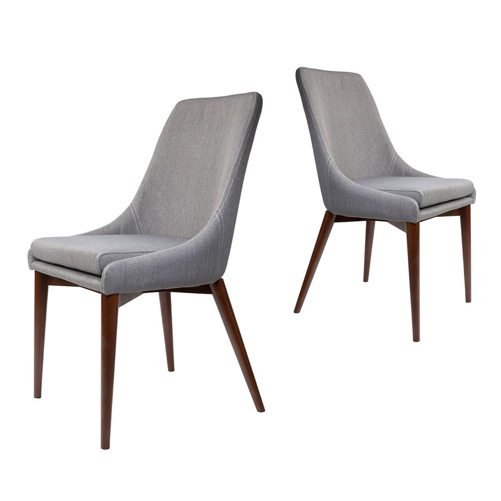 maison du monde 2 chaises tissu gris