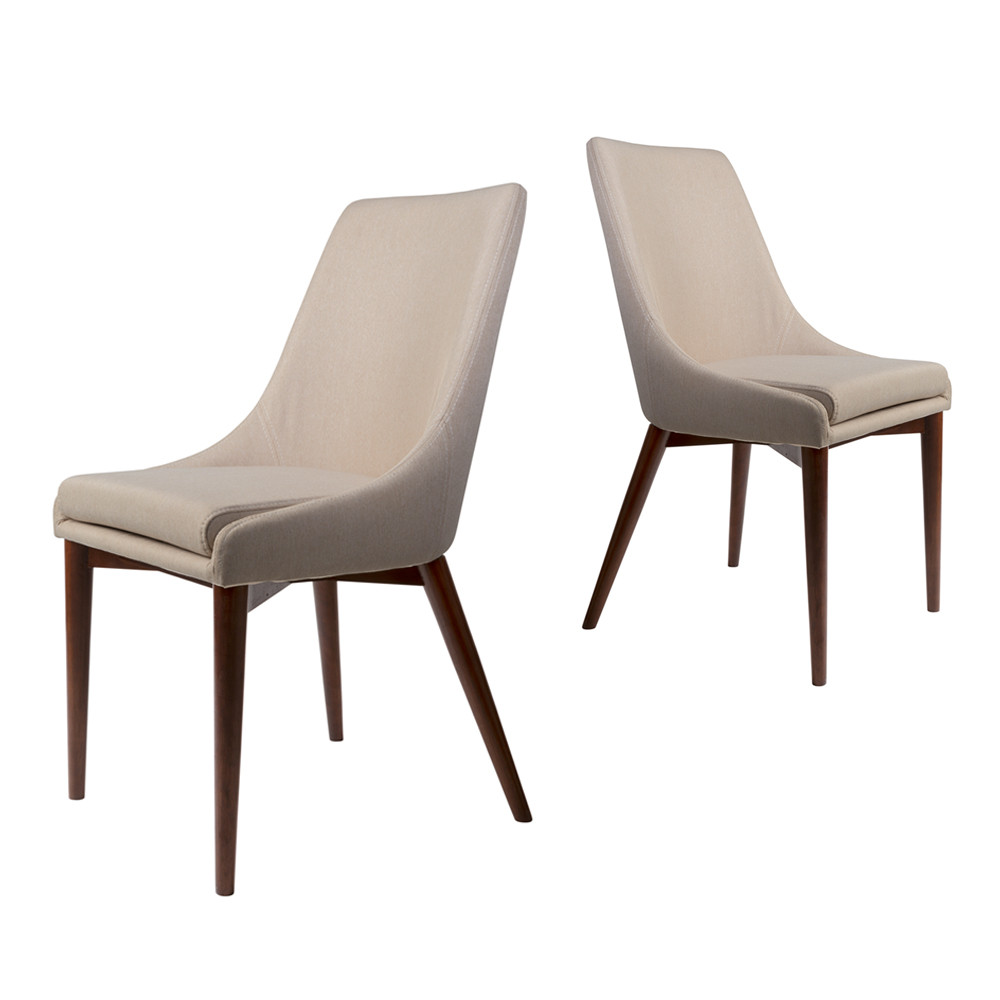 maison du monde 2 chaises tissu beige