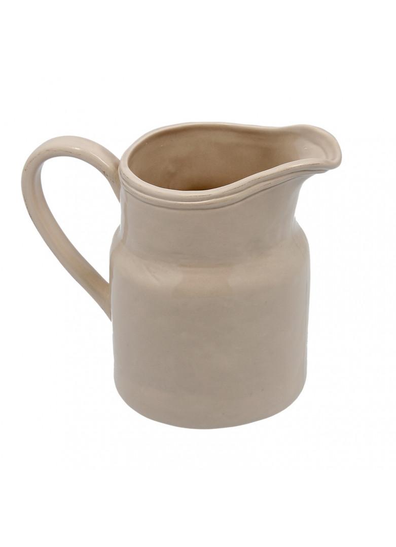 Pichet en céramique beige