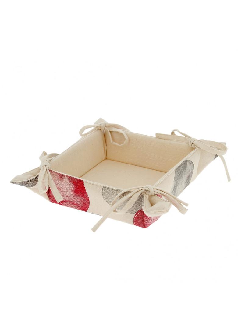 Corbeille à pain en coton 22x22cm