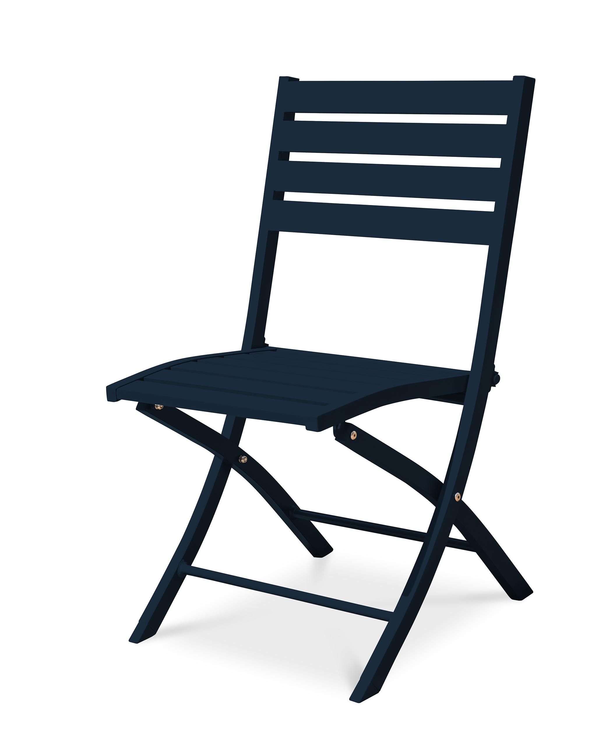 Chaise de jardin en aluminium marine