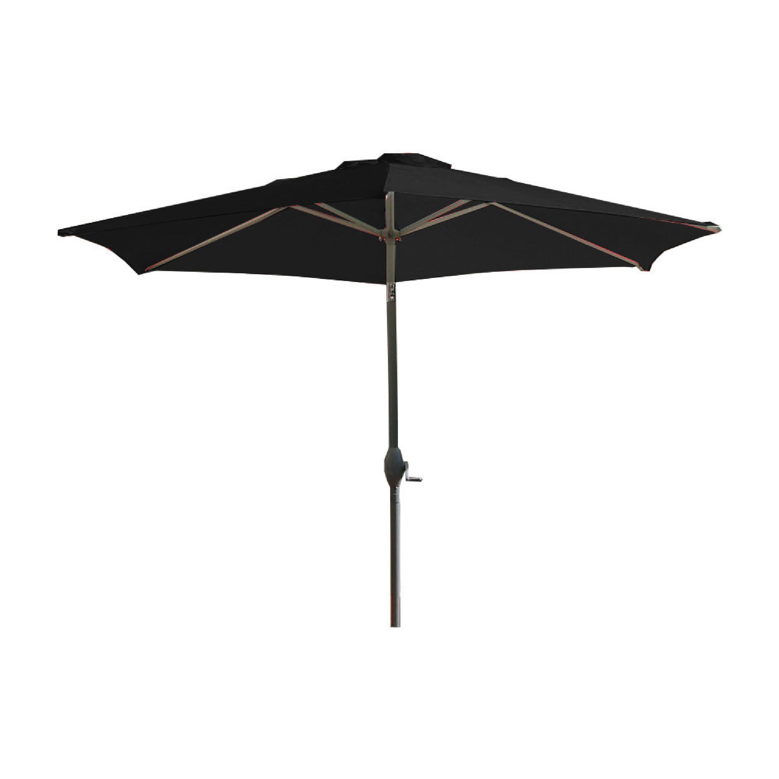 Parasol avec mât en aluminium et toile blanche