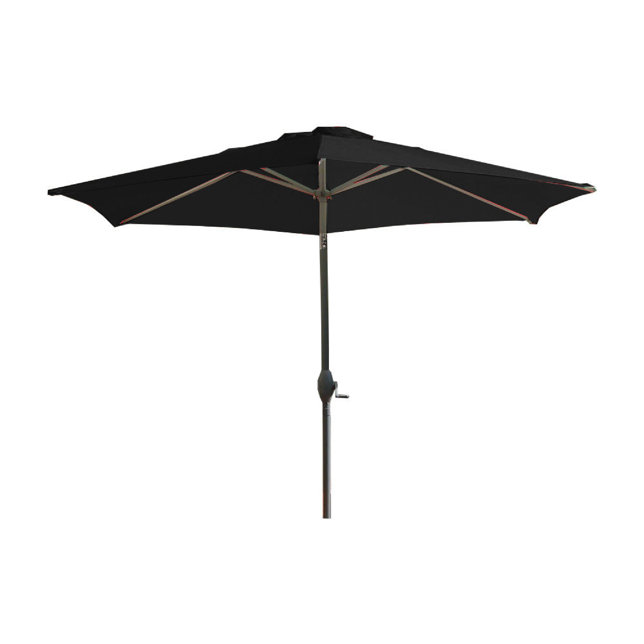 Parasol avec mât en aluminium et toile noire
