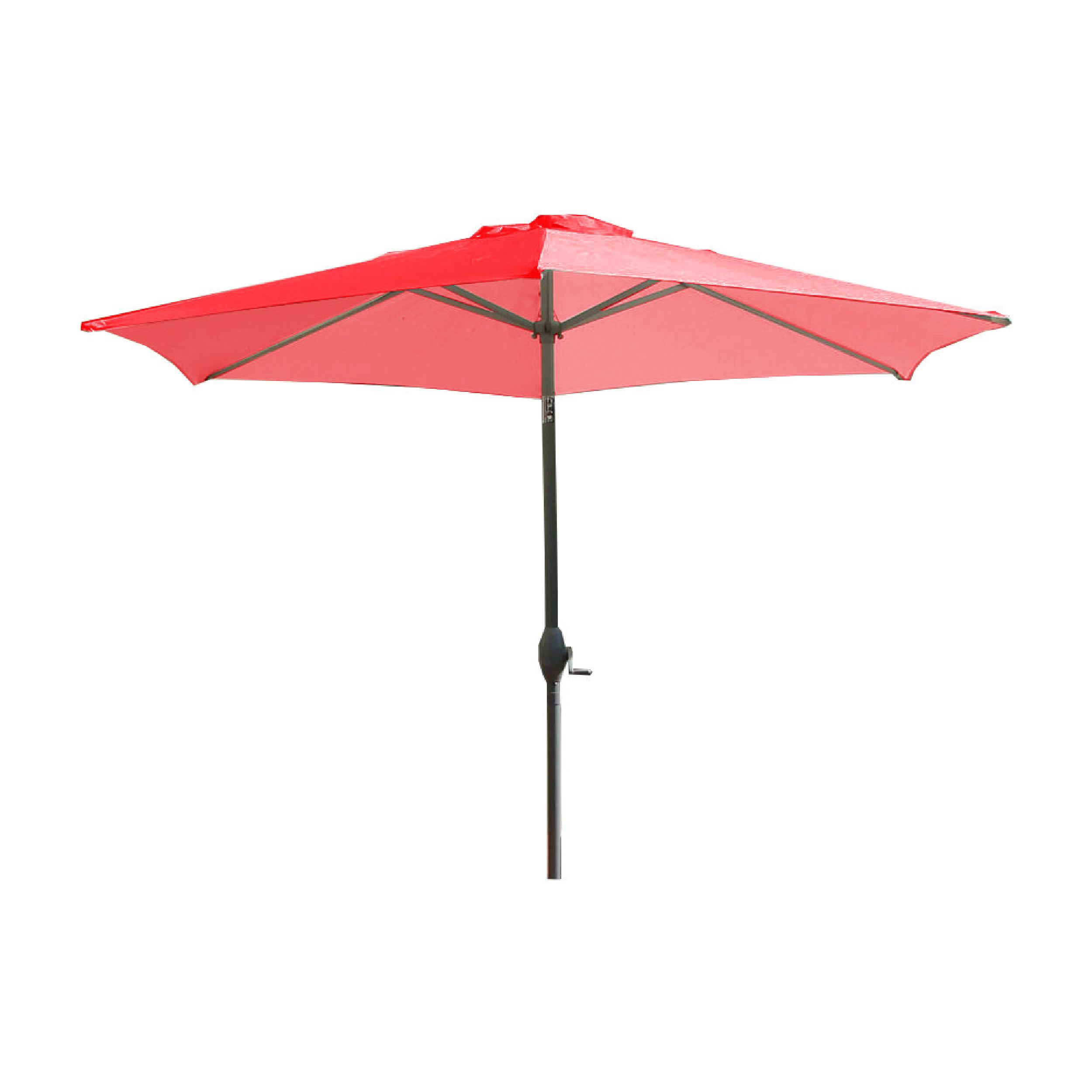 Parasol avec mât en aluminium et toile corail