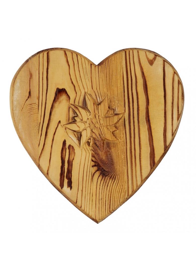 Dessous de plat coeur bois vieilli