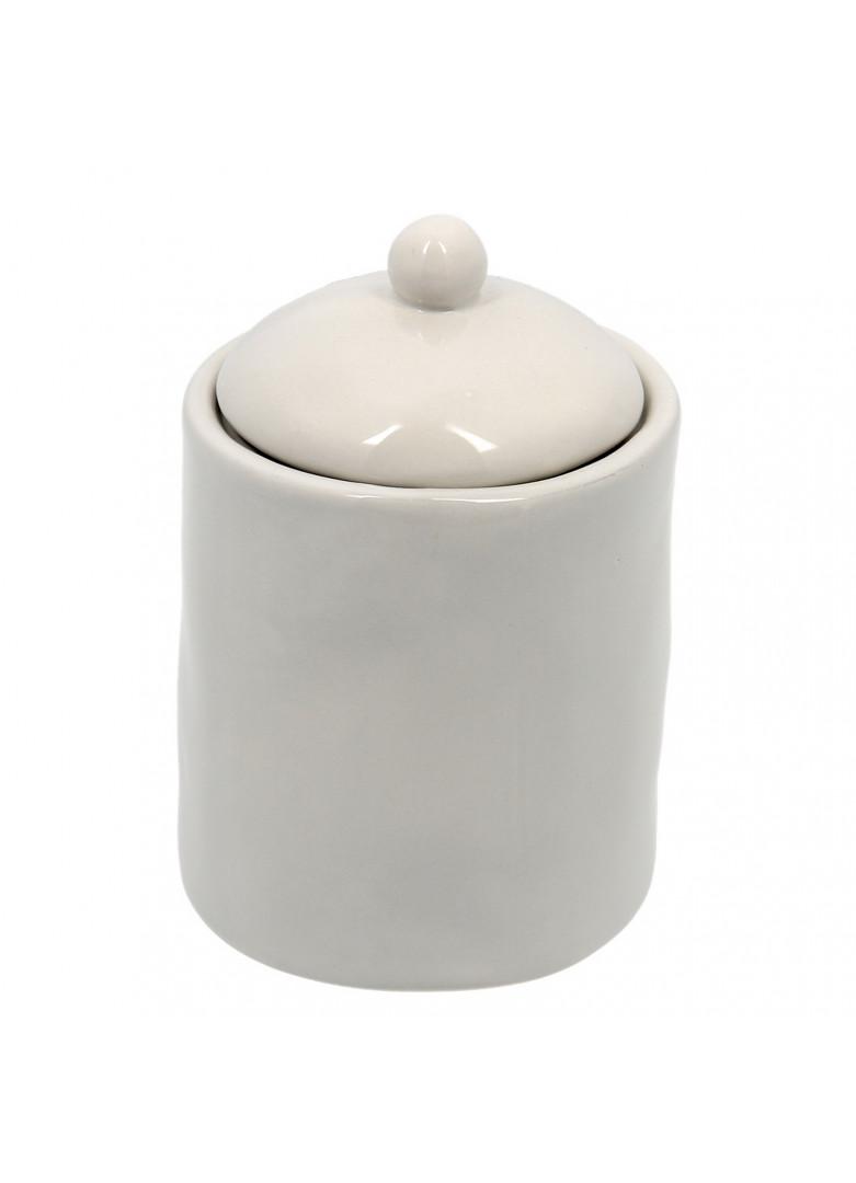 Pot à épices en céramique grise