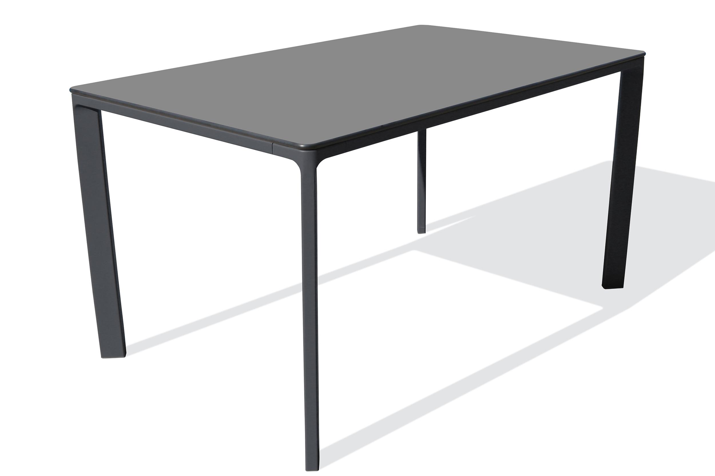 Table de jardin 6 places en aluminium laqué et peinture Epoxy gris