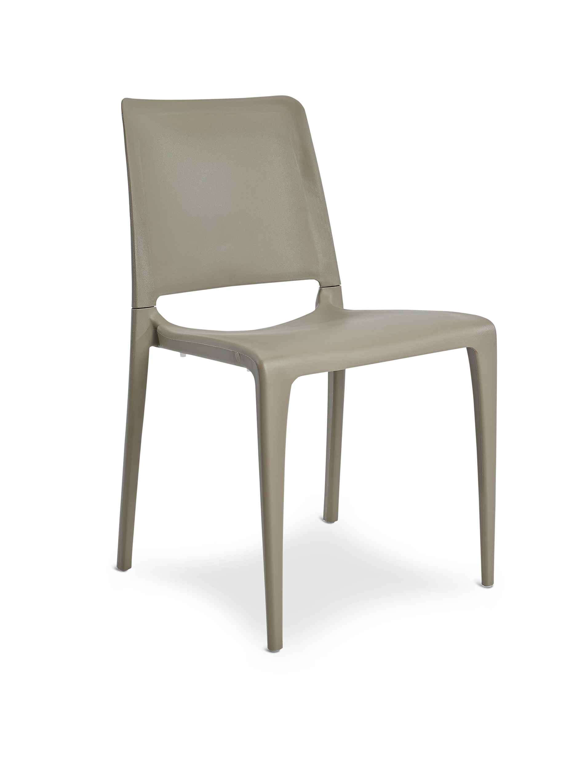 Chaise de jardin empilable en polypropylène renforcé taupe