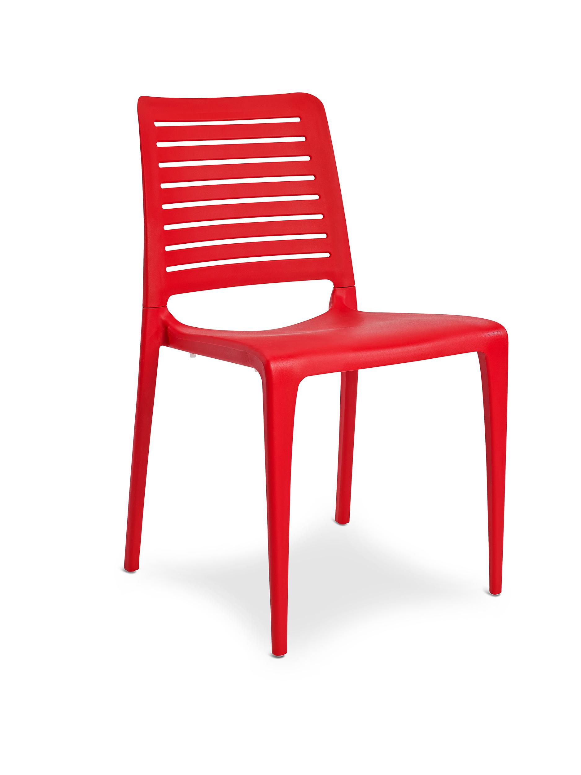 Chaise de jardin en polypropylène renforcé rouge