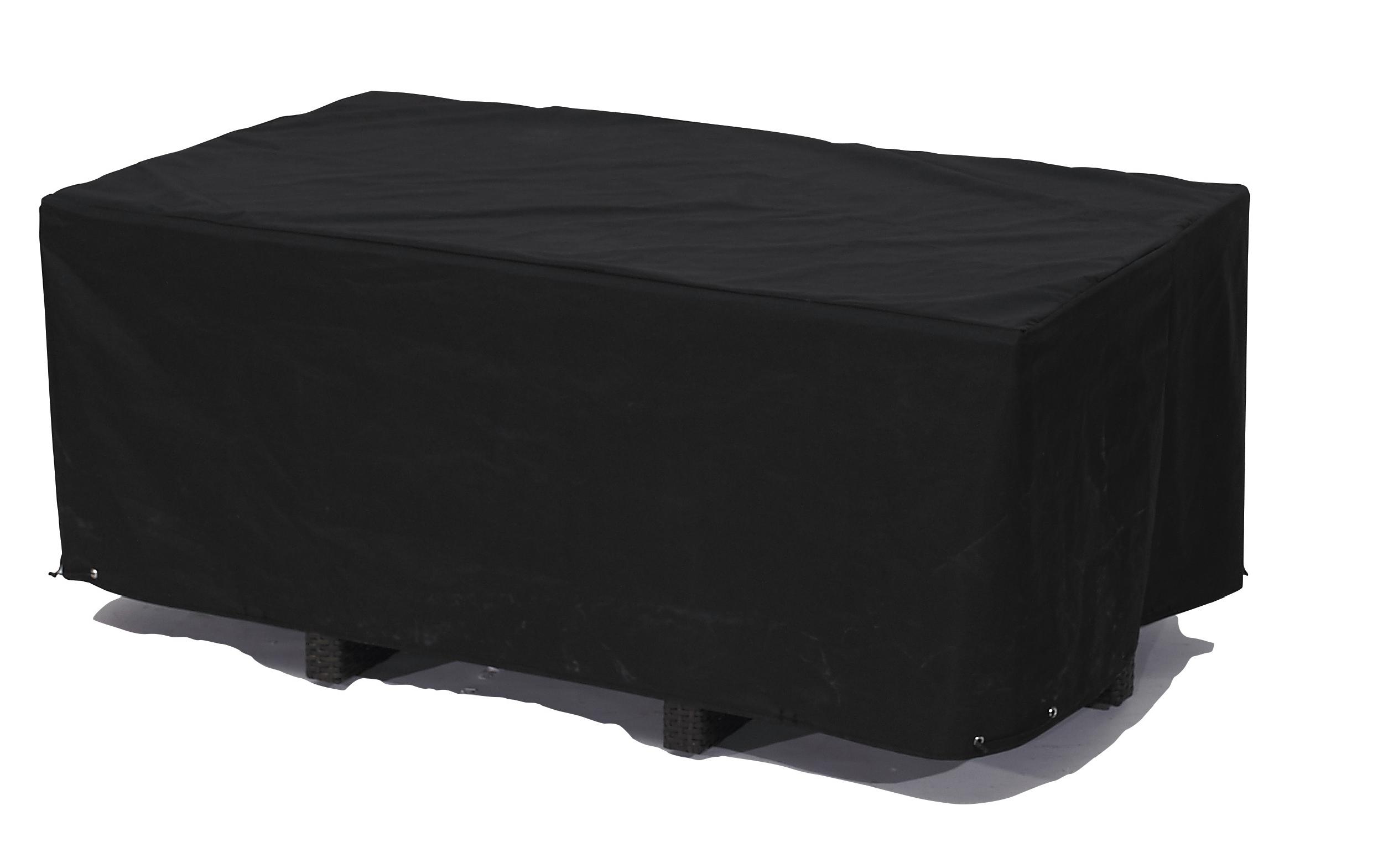 Housse de protection pour table de jardin 8 places en polyester noir
