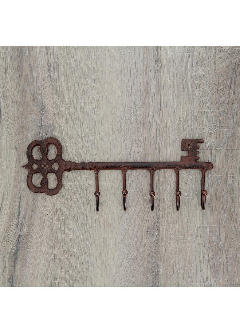 Patère forme clé 5 crochets fonte L31,5cm