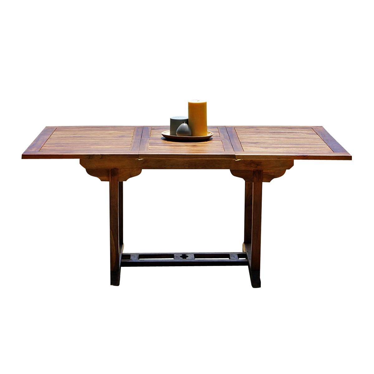 Table de jardin extensible en teck huilé 6/8 personnes